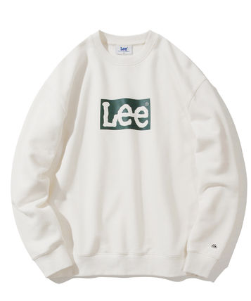 U-Neck Plain Cotton Logo Sweatshirts