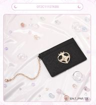 OST Faux Fur Collaboration Small Wallet Logo Card Holders