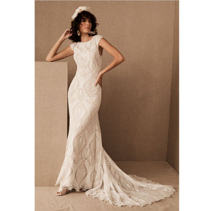 BHLDN Plain Long Wedding Dresses