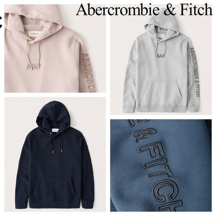 Abercrombie & Fitch Hoodies Pullovers Blended Fabrics Street Style Long Sleeves Plain