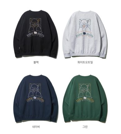 Pullovers Unisex Street Style U-Neck Collaboration