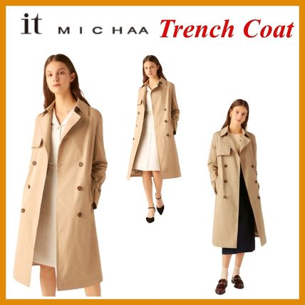 IT MICHAA Chester Wool Cashmere Tweed Studded Street Style Plain Chester Coats