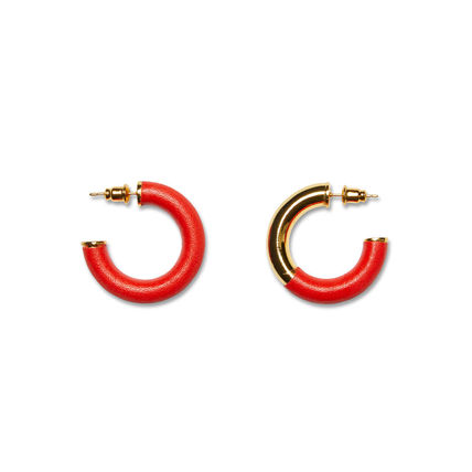 PORTRAIT REPORT Casual Style Street Style Leather Earrings