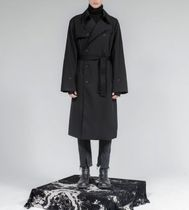 FLARE UP Trench Unisex Street Style Plain Trench Coats 4