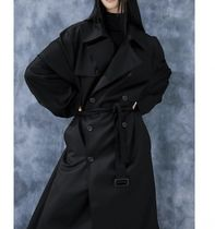 FLARE UP Trench Unisex Street Style Plain Trench Coats 6