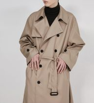 FLARE UP Trench Unisex Street Style Plain Trench Coats 7