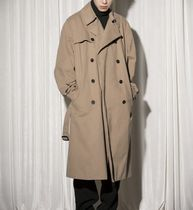 FLARE UP Trench Unisex Street Style Plain Trench Coats 8