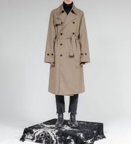 FLARE UP Trench Unisex Street Style Plain Trench Coats 11