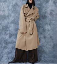 FLARE UP Trench Unisex Street Style Plain Trench Coats 12