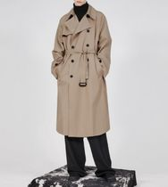 FLARE UP Trench Unisex Street Style Plain Trench Coats 13