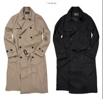 FLARE UP Trench Unisex Street Style Plain Trench Coats 14