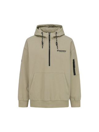 Nylon Long Sleeves Plain Logo Hoodies