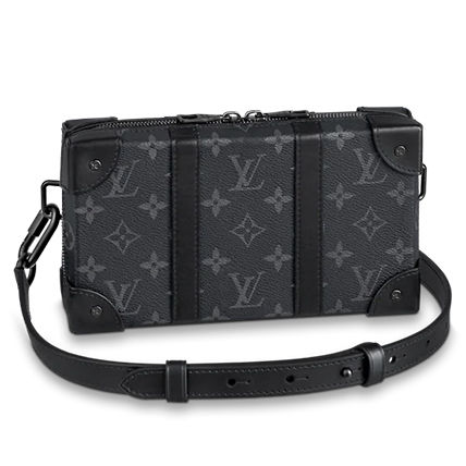 Louis Vuitton Monogram Unisex Calfskin Canvas Blended Fabrics Street Style