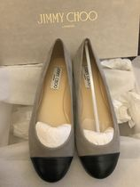 Jimmy Choo Round Toe Casual Style Suede Blended Fabrics Plain Leather
