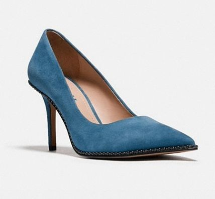 Coach Suede Leather High Heel Pumps & Mules
