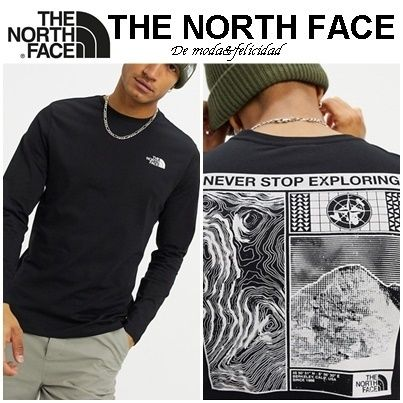 THE NORTH FACE Long Sleeve Street Style Long Sleeves Cotton Long Sleeve T-shirt Logo