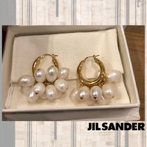 Jil Sander Casual Style Blended Fabrics Party Style With Jewels
