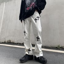 Printed Pants Cotton Street Style Patterned Pants