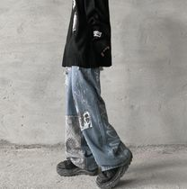 More Jeans Printed Pants Denim Street Style Oversized Jeans 7