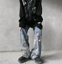 More Jeans Printed Pants Denim Street Style Oversized Jeans 9