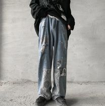 More Jeans Printed Pants Denim Street Style Oversized Jeans 10