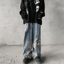 More Jeans Printed Pants Denim Street Style Oversized Jeans 12