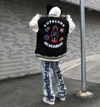 More Jeans Printed Pants Denim Street Style Oversized Logo Neon Color 15