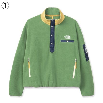 Pullovers Street Style Collaboration Bi-color Long Sleeves
