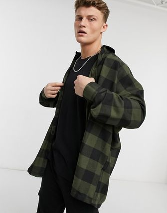 ASOS Other Plaid Patterns Street Style Long Sleeves Cotton