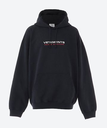 VETEMENTS Logo Unisex Street Style Oversized Hoodies