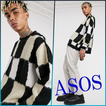 ASOS Sweaters Other Plaid Patterns Street Style Long Sleeves Sweaters