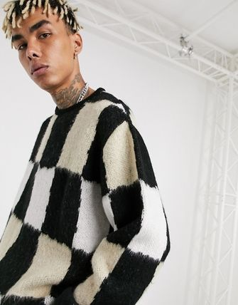 ASOS Sweaters Other Plaid Patterns Street Style Long Sleeves Sweaters 3