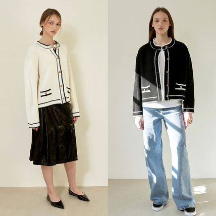 Hackesch Cardigans Casual Style Street Style Office Style Elegant Style