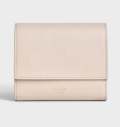 CELINE Tri Fold Small Trifold Wallet In Grained Calfskin