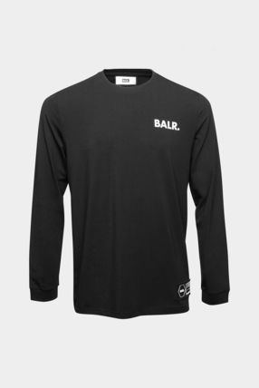 BALR Crew Neck Pullovers Unisex Street Style Long Sleeves Plain