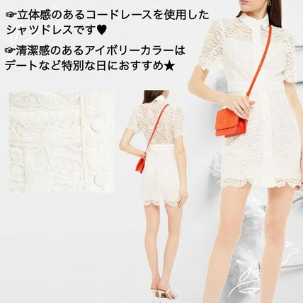 Short Casual Style Short Sleeves Party Style Lace