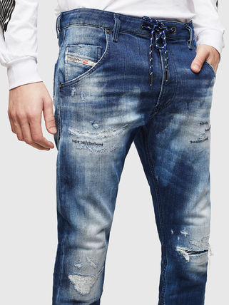 DIESEL JOGG JEANS Tapered Pants Denim Street Style Jeans
