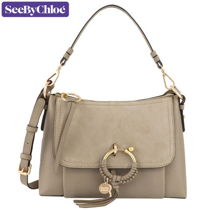 2WAY Plain Leather Crossbody Shoulder Bags