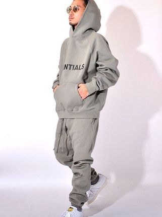 FEAR OF GOD ESSENTIALS Unisex Street Style Oversized Sweats Two-Piece Sets