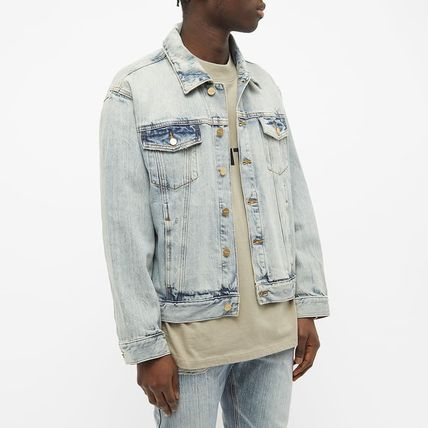 FEAR OF GOD ESSENTIALS Unisex Street Style Plain Oversized Logo Jackets