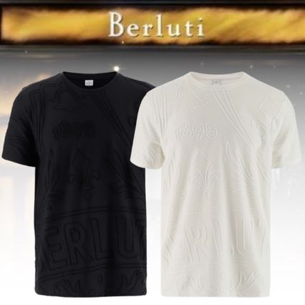 Berluti More T-Shirts Pullovers Street Style Cotton Short Sleeves Logo Luxury
