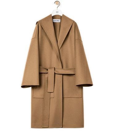 LOEWE Casual Style Wool Cashmere Blended Fabrics Street Style