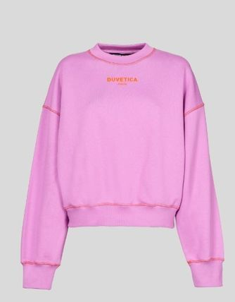 Unisex Street Style Long Sleeves Cotton Logo