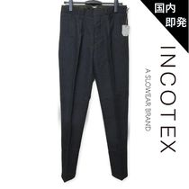 INCOTEX Tapered Pants Dots Cotton Tapered Pants