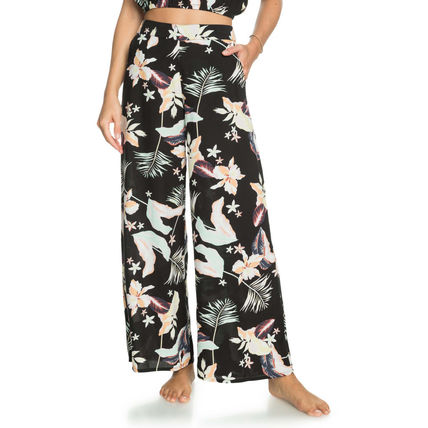 ROXY Flower Patterns Tropical Patterns Casual Style Long Culottes