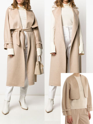 Casual Style Cashmere Plain Office Style Elegant Style