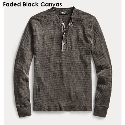 Long Sleeve T-shirt Surf Style Pullovers Henry Neck