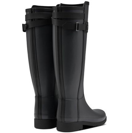 HUNTER Rubber Sole Plain Rain Boots Boots