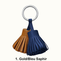 HERMES Unisex Lambskin Leather Keychains & Bag Charms