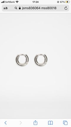 Jil Sander Unisex Earrings
